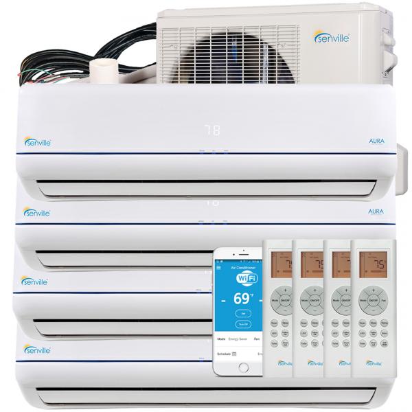 [:fr]48000 BTU Quad Zone Mini Split climatiseur-pompe à chaleur-Sena/48HF/Q[:en]48000 BTU Quad Zone Mini Split Air Conditioner - Heat Pump - SENA/48HF/Q[:]